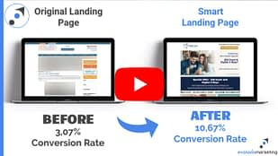 Evoluxio Marketing Before-After Landing Page Results